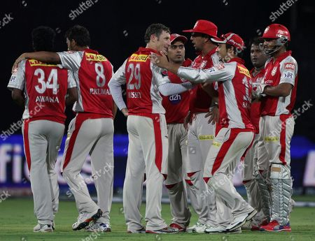 David Hussey Kings XI Punjab bowler David Hussey, third from left, celebrates the wicket of Deccan Chargers Daniel Harris with his team members during their Indian Premier League (IPL) cricket match in Hyderabad, India