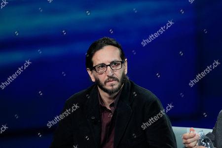 """Italian film maker Daniele Vicari attends the Italian State RAI TV program """"Che Tempo che Fa"""", in Milan, Italy"""