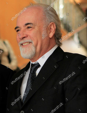 Talian TV director Antonio Ricci attends the journalism prize event 'E' Giornalismo' in Milan, Italy, Thursday, March, 22, 2012