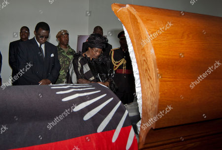 Joyce Banda Malawian president Joyce Banda pays her last respects at the coffin of the late president Bingu wa Mutharika at a state funeral in Blantyre, Malawi, . Mutharika died April 5 after suffering a heart attack. He was 78 years old