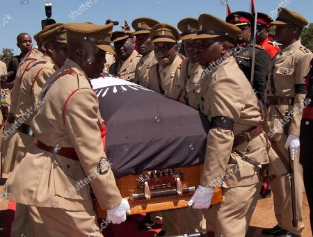 Bingu wa Mutharika Malawian army officers carry the coffin of the late president Bingu wa Mutharika at a state funeral in Blantyre, Malawi, . Mutharika died April 5 after suffering a heart attack. He was 78 years old