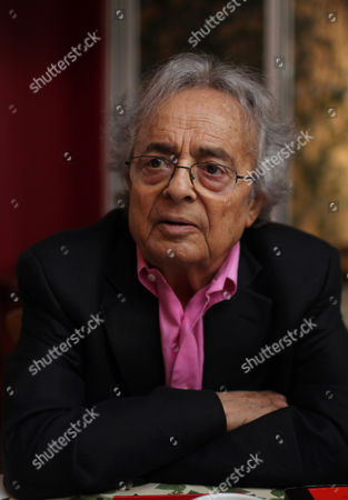 Stock Picture of Adonis Syrian poet Adonis, born as Ali Ahmad Said Esber, speaks during an interview in Mexico City, . Adonis said he thinks the Arabic world needs social and cultural changes