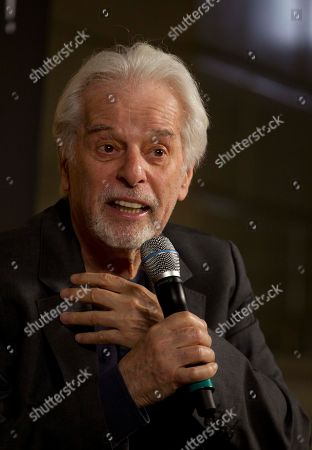Alejandro Jodorowsky, Adan Jodorowsky Chilean writer and filmmaker Alejandro Jodorowsky speaks during a press conference in Mexico City, . French born-Chilean musician and performer Adan Jodorowsky, son of Alejandro Jodorowsky, will perform in concert in Mexico City on March 9
