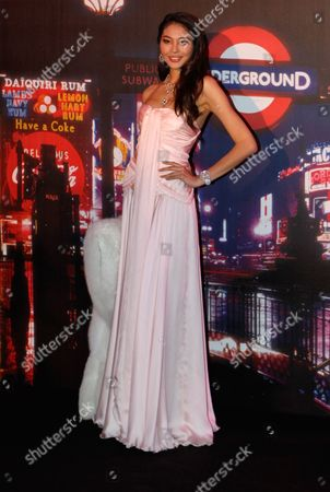 """Stock Photo of Chinese miss china 2011,Luo Zilin attends at the """"Rose Ball"""", in Monaco"""