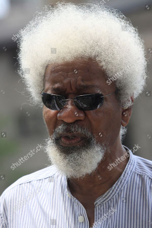 Nobel Laureate professor Wole Soyinka, attends the Black heritage festival at the freedom park in Lagos, Nigeria on . Lagos is hosting its annual Lagos Black Heritage Festival this week, which this year includes a look at relations between Nigeria and Italy, a popular spot with young migrant workers from Africa's most populous nation