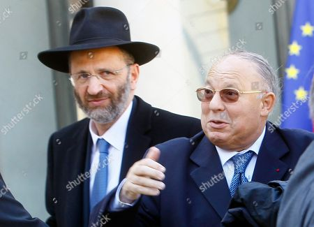 Gilles Bernheim, Dalil Boubakeur France's Grand Rabbi Gilles Bernheim, left, looks, as Paris Mosque rector Dalil Boubakeur gestures after a meeting with France's President Nicolas Sarkozy and representatives of French Jewish and Muslim communities at the Elysee Palace in Paris . Sarkozy met the representatives the day after a gunman on a motorbike opened fire Monday at a Jewish school in the French city of Toulouse, southwestern France, killing a rabbi and his two young sons as they waited for a bus, then chased down a 7-year-old girl, shooting her dead at point-blank range. It was the latest in a series of attacks on minorities that have raised fears of a racist killer on the loose