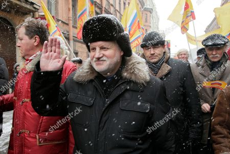 Sergei Mironov Russia's lawmaker and presidential candidate Sergei Mironov, second left, attends a protest rally against Prime Minister Vladimir Putin's rule in St.Petersburg, Russia, . Several thousands of Russians march downtown St.Petersburg to demand an end to Putin's rule, casting a strong challenge to his bid to reclaim the presidency in March