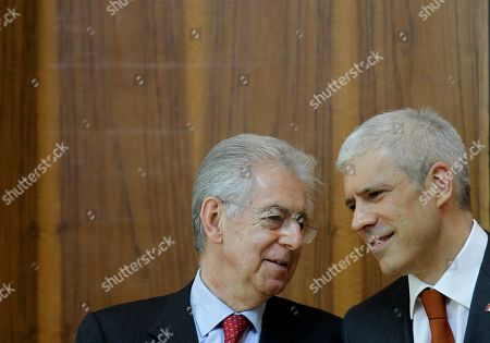 Mario Monti, Boris Tadic Italian Prime Minister Mario Monti, left, speaks with Serbian President Boris Tadic, in Belgrade, Serbia, . The second political and business summit Serbia-Italy takes place in Belgrade on March 8, with the participation of Serbian President Boris Tadic and the two countries' prime ministers, Mirko Cvetkovic and Mario Monti