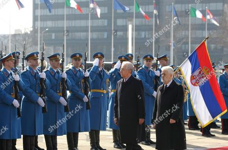 Mario Monti, Mirko Cvetkovic Italian Prime Minister Mario Monti, center, reviews a guard of honour with his Serbian counterpart Mirko Cvetkovic, in Belgrade, Serbia, . The second political and business summit Serbia-Italy takes place in Belgrade on March 8, with the participation of Serbian President Boris Tadic and the two countries' prime ministers, Mirko Cvetkovic and Mario Monti