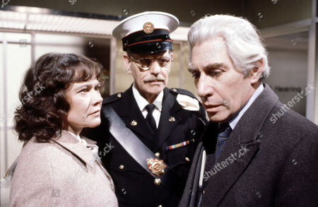 Stock Image of Heather Sears with Deryck Guyler (left) and Frank Finlay in 'Tales Of The Unexpected' - Episode: 'There's One Born Every Minute'