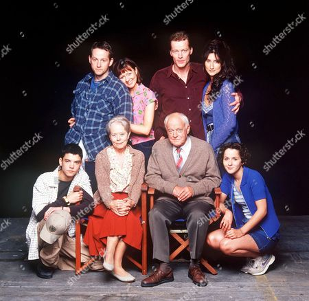 'Anchor Me' - L-R: Back Row: Adam Kotz, Julia Ford, Iain Glen and Anna Patrick Annette Crosbie and Frank Windsor [Centre]