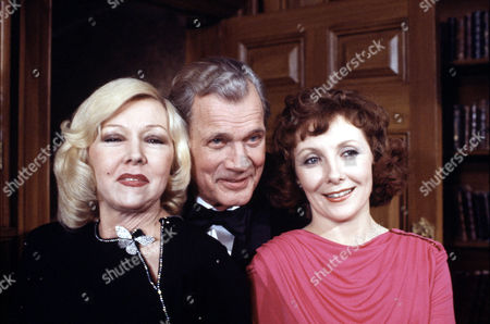 Joseph Cotten with Gloria Grahame (left) and Maureen O'Brien in 'Tales Of The Unexpected' - Episode: 'Depart In Peace'