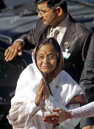 Pratibha Devisingh Patil Indian President Pratibha Patil greets people during her arrival at Parliament in Cape Town, South Africa, . Patil is on an official state visit to the country
