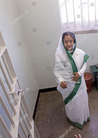 Pratibha Patil Indian President Pratibha Patil, inside the cell of former South African President Nelson Mandela on Robben Island situated near Cape Town, South Africa, . Patil is on an official state visit to the country