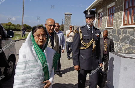 Pratibha Patil Indian President Pratibha Patil, left, arrives at the prison on Robben Island situated near Cape Town, South Africa, . Patil is on an official state visit to the country