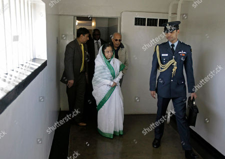 Pratibha Patil Indian President Pratibha Patil, center, walks inside Robben Island prison situated near Cape Town, South Africa, . Patil is on an official state visit to the country
