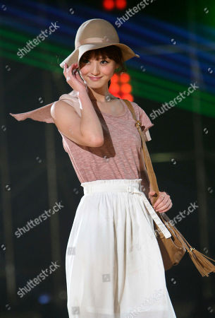 Nozomi Sasaki Japanese model Nozomi Sasaki wears a creation during the Super Girl Festa in Taipei, Taiwan