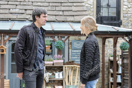 Whilst Cain Dingle, as played by Jeff Hordley, has been away the solicitor letters have been arriving and soon Cain confronts Moira Barton, as played by Natalie J Robb, over them. Holly Barton, as played by Sophie Powles, tries to get involved but Cain gives her short shrift. (Ep 7627 - Wednesday 28th September 2016)
