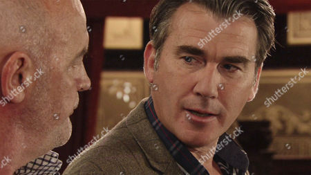 Vinny, as played by Ian Kelsey, reminds Phelan, as played by Connor McIntyre, that if they can keep The Game up for another two months then they'll be on a beach sipping cocktails enjoying their new wealth. (Ep 9008 - Friday 7th October 2016)