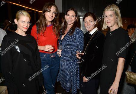 Stock Photo of Jaime Perlman, guest, Rosie Vogel-Eades, Kate Phelan and Laura Ingham