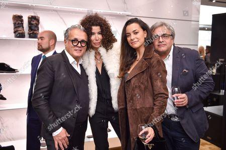 Stock Image of Giuseppe Zanotti, Isis Monteverde, Bobby Monteverde and guest