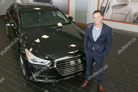 Russ Johnson, Mike Williams Russ Johnson, the first US buyer of the new 2017 Genesis G90, at the dealership in Round Rock, Texas on