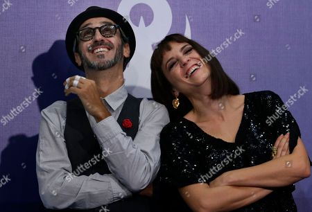 Stock Image of The Spanish duo Marlango, Leonor Watling and Alejandro Pelayo poses for pictures during the Lunas del Auditorio Nacional awards ceremony in Mexico City