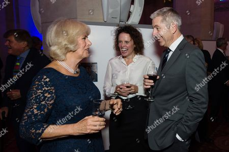 Camilla Duchess of Cornwall meets Justin Webb