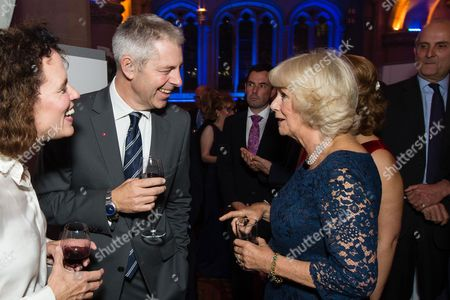 Stock Picture of Camilla Duchess of Cornwall meets Justin Webb