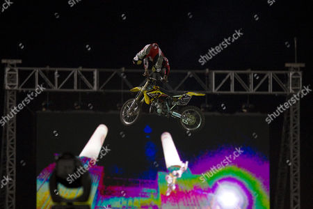 Robbie Maddison (AUS) competing the Red Bull X Fighters International Freestyle Motocross.