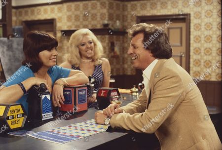 Jeanette Wild (as Dawn Perks), Julie Goodyear (as Bet Lynch) and Johnny Briggs (as Mike Baldwin)
