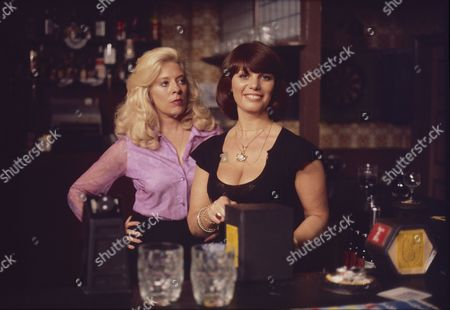 Stock Image of Julie Goodyear (as Bet Lynch) and Jeanette Wild (as Dawn Perks)