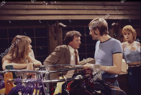 Helen Worth (as Gail Potter), Johnny Briggs (as Mike Baldwin) Lawrence Mullin (as Steve Fisher) and Cheryl Murray (as Suzie Birchall)