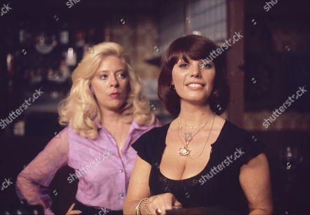 Julie Goodyear (as Bet Lynch) and Jeanette Wild (as Dawn Perks)