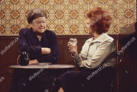 Violet Carson as (Ena Sharples) and Pat Phoenix (as Elsie Howard)
