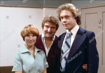 Diane Grayson (as Liz Brocklebank), Peter Adamson (as Len Fairclough) and Jonathan Coy (as Stanley Fairclough)