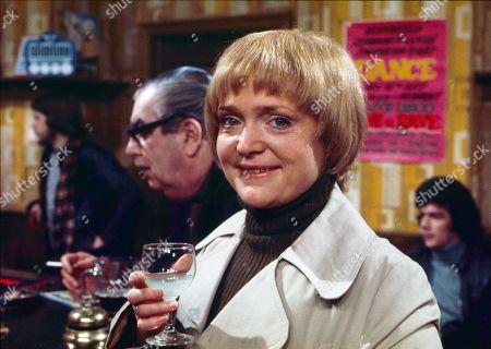 Bernard Youens (as Stan Ogden) and Mary Healey (as Thelma James)