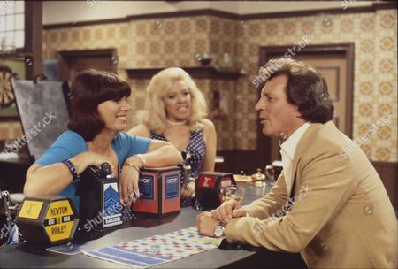 Stock Image of Jeanette Wild (as Dawn Perks), Julie Goodyear (as Bet Lynch) and Johnny Briggs (as Mike Baldwin)