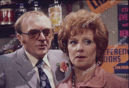 Kenneth Watson (as Ralph Lancaster) and Barbara Knox (as Rita Fairclough)