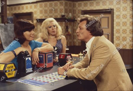 Stock Photo of Jeanette Wild (as Dawn Perks), Julie Goodyear (as Bet Lynch) and Johnny Briggs (as Mike Baldwin)