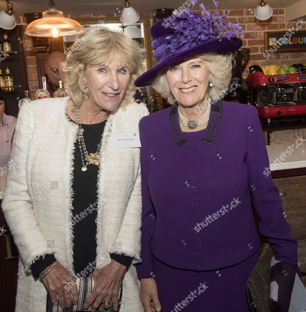 Annabel Elliot and Camilla Duchess of Cornwall officially opened the 'Duchess of Cornwall' pub in Poundbury