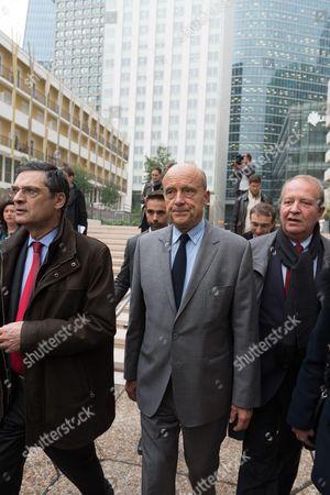 Patrick Devedjian, Alain Juppe and Christian Dupuy