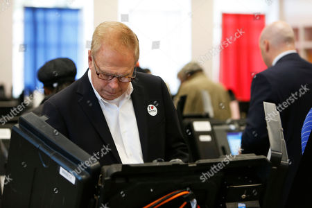 Ted Strickland Ohio Democratic Senate candidate and former Ohio Gov. Ted Strickland votes at the Franklin County Board of Elections, in Columbus, Ohio. Strickland seeks to unseat Republican incumbent Rob Portman