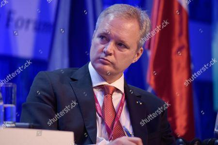 "The Former Minister of Defense of the Kingdom of Sweden, Sten Tolgfors attends the plenary session named ""NATO post-Warsaw"""