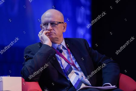 """Stock Image of The Ministry of Foreign Affairs of the Republic of Poland, Marek Ziolkowski attends the plenary session named """"NATO post-Warsaw"""""""