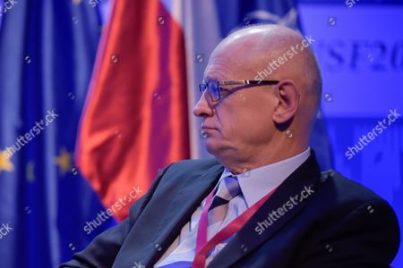 """Stock Photo of The Ministry of Foreign Affairs of the Republic of Poland, Marek Ziolkowski attends the plenary session named """"NATO post-Warsaw"""""""
