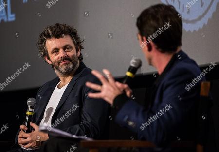 Michael Sheen with Dave Calhoun