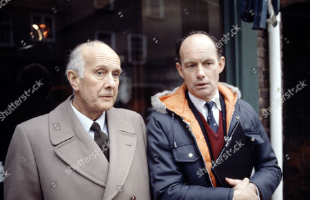 Geoffrey Chater (left) and Geoffrey Beevers in 'Tales Of The Unexpected' - 1988  Episode: 'The Verger'