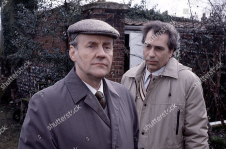 Richard Briers (left) and Andrew Burt in 'Tales Of The Unexpected' - 1988  Episode: 'The Verger'
