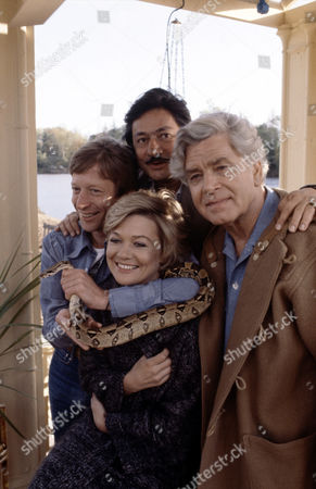 Judy Geeson with L-R.Andrew Ray, Saeed Jaffrey and Anthony Steel in 'Tales Of The Unexpected' - 1980  Episode: 'Poison'